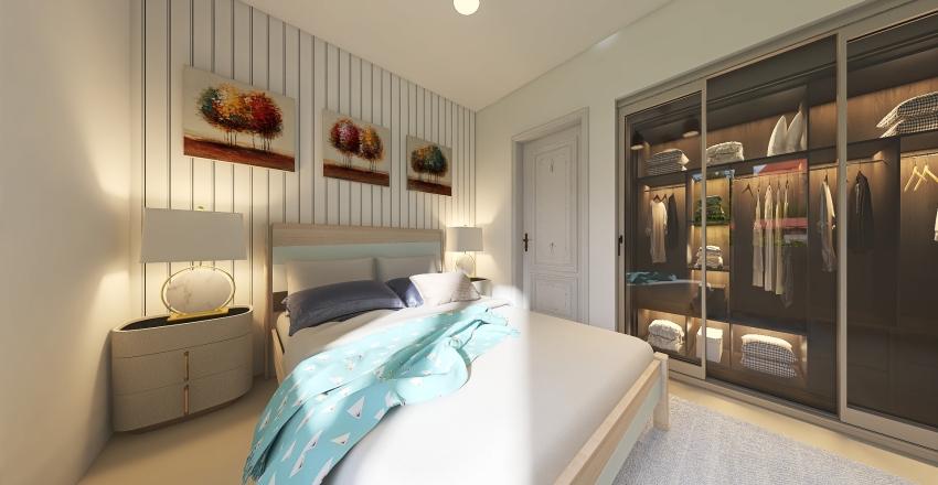 Simples e moderno Interior Design Render