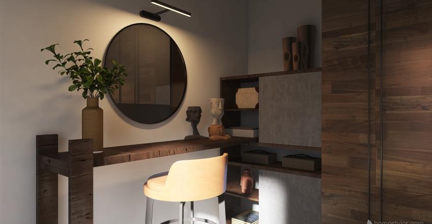 Earthy Modern Interior Design Render