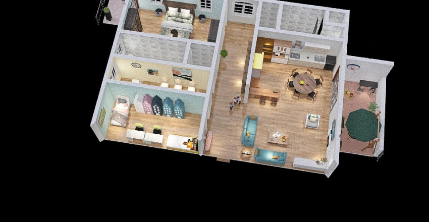 Unitaabitativa Interior Design Render