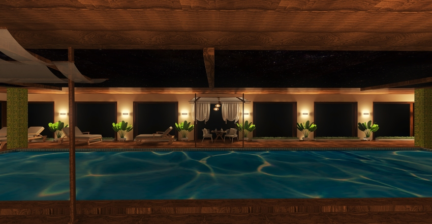 Projeto Piscina Interior Design Render