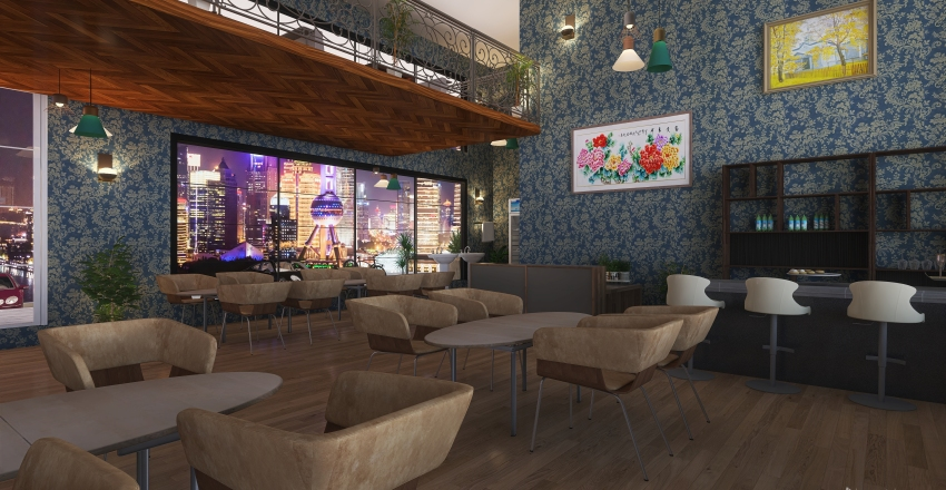 #HSDA2020Commercial Shara Restuarant Interior Design Render