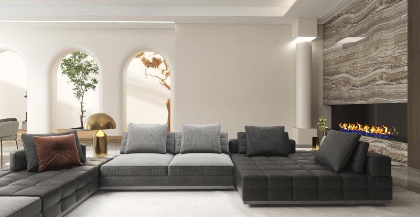 Oriental Living-dining Combo Room Demo Interior Design Render