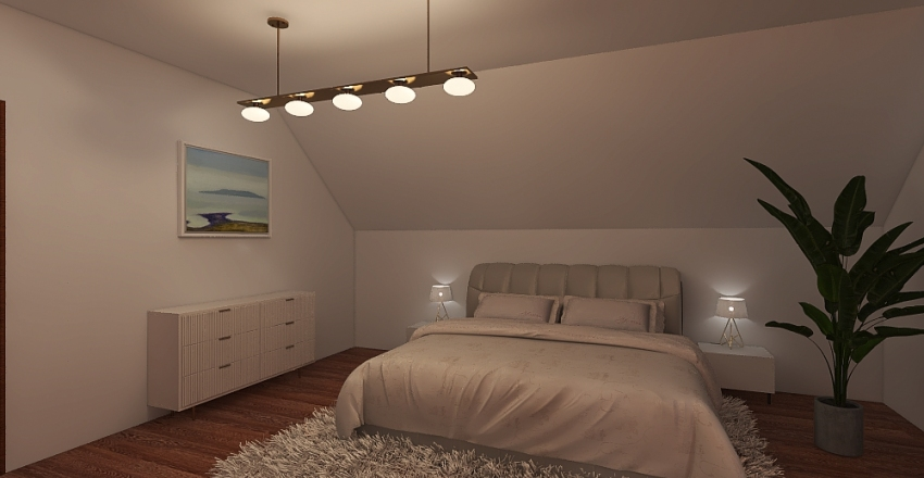 Cianowice - 2nd floor Interior Design Render
