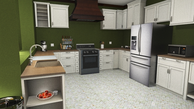 Copy of Kitchen / Dining Room Interior Design Render