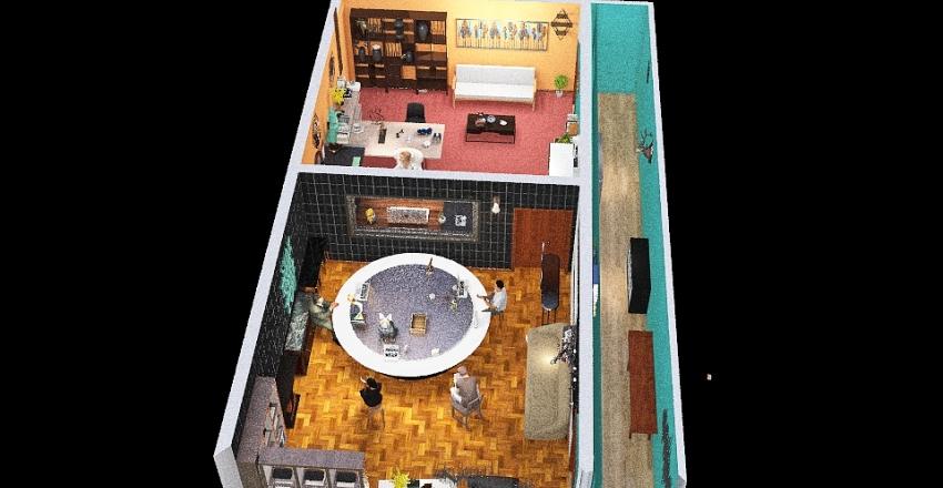 estudio de radio Interior Design Render
