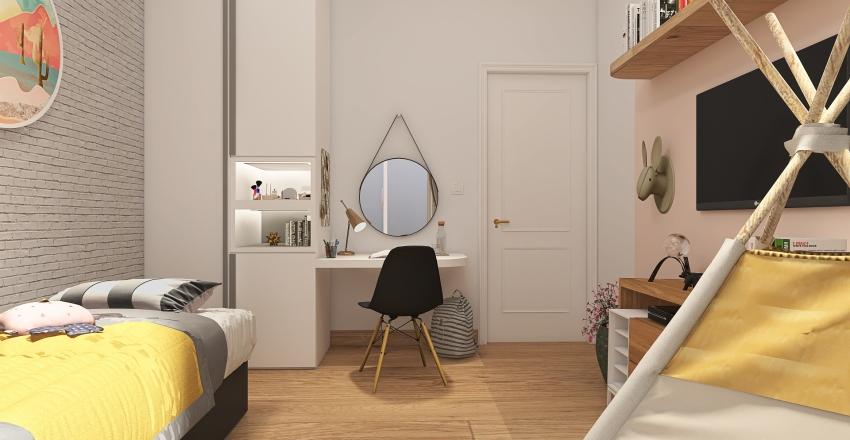 RE2011003 - Fernanda - Quarto Caetano e Clarice Interior Design Render