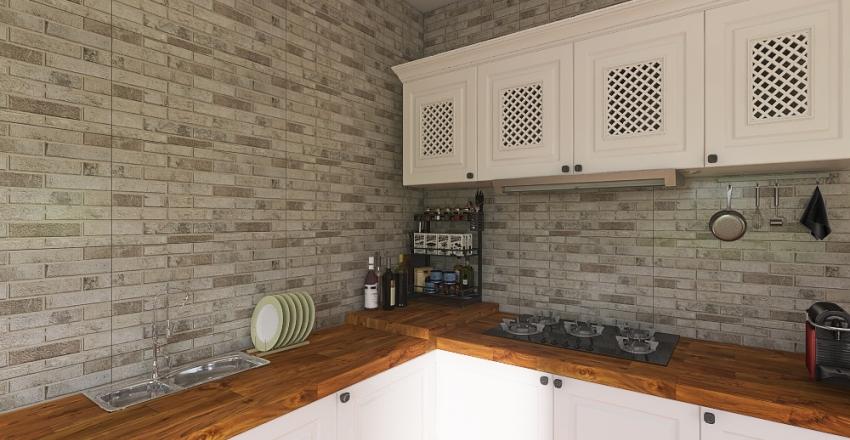 Prefabricated House Interior Design Render
