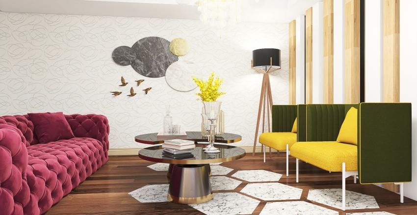 Sala glamurosa Interior Design Render