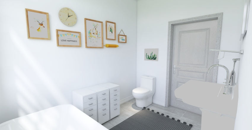 Cute Bungalow Interior Design Render