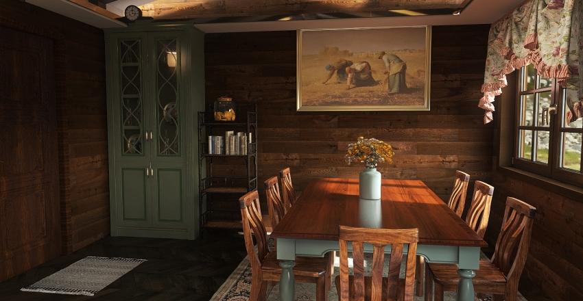 hütte Interior Design Render