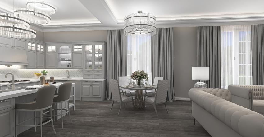 Neoclassical living room #MK Interior Design Render