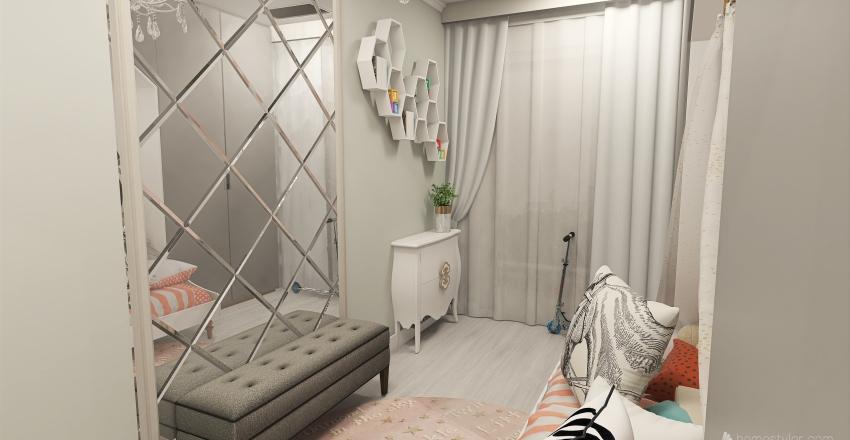 Family 2+2 apartment Interior Design Render