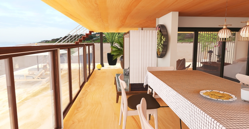 Beach house Interior Design Render