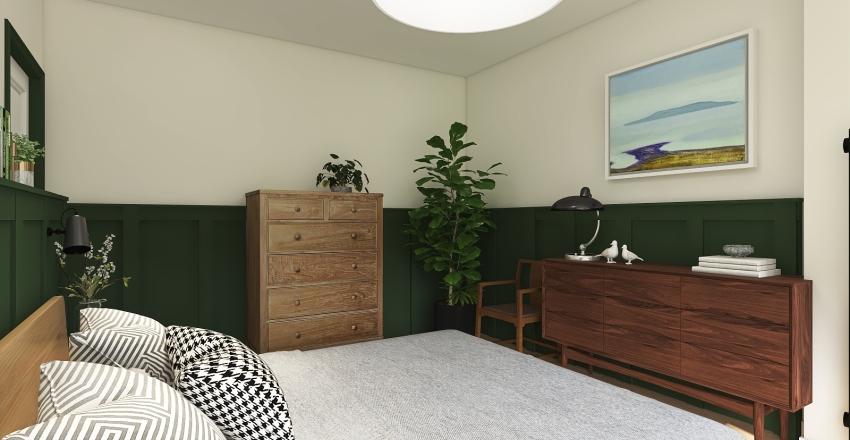 Green Bedroom 1 Interior Design Render