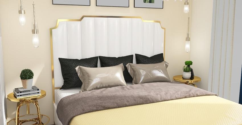 The golden Apartment Interior Design Render