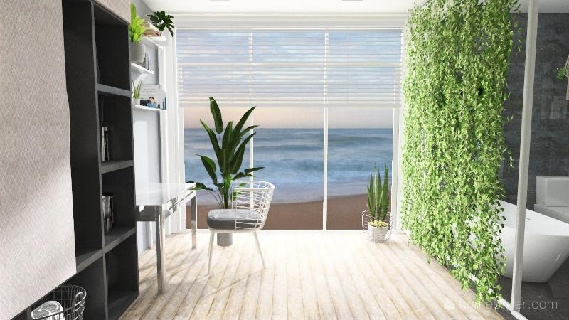 Minimalistic house Interior Design Render