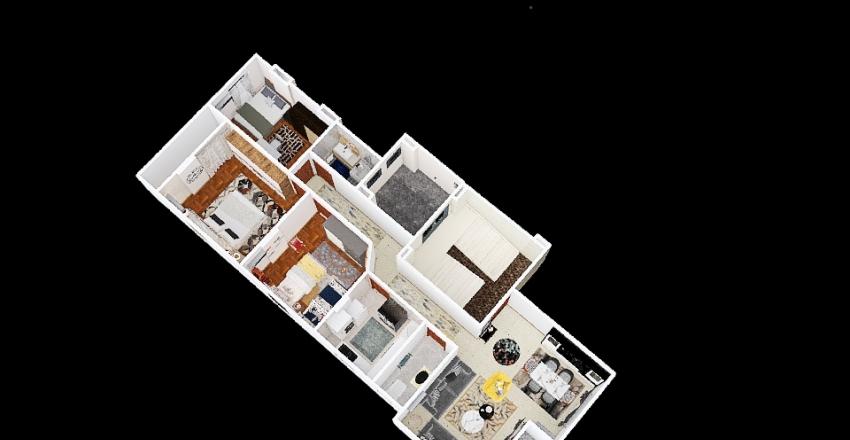 flat592 corner Interior Design Render
