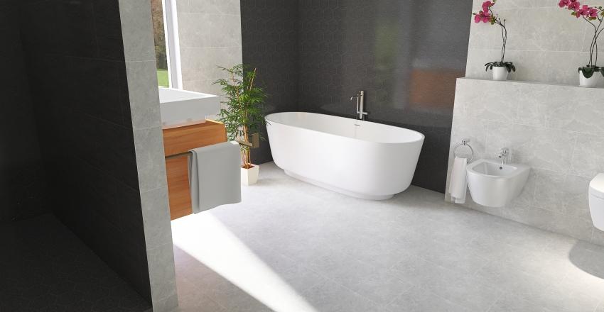 bagno mansarda Interior Design Render