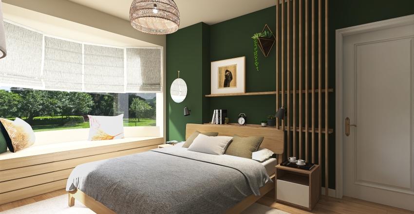 Green Bedroom 2 Interior Design Render