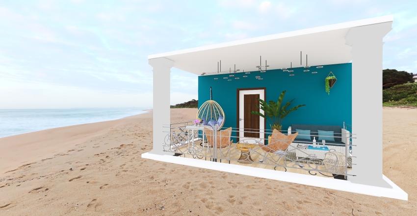 mediterranean terrace Interior Design Render