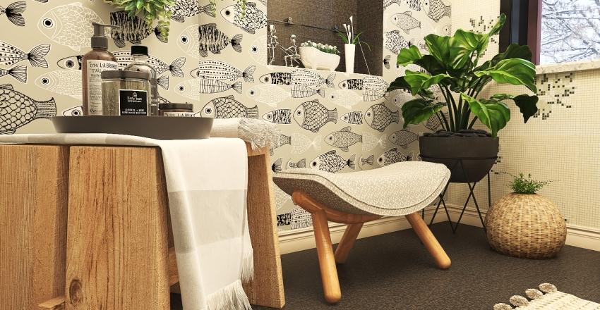 A Scandinavian inspired design for Kai. Interior Design Render