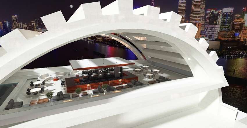 #HSDA2020Commercial Rooftop lounge and Bar Interior Design Render