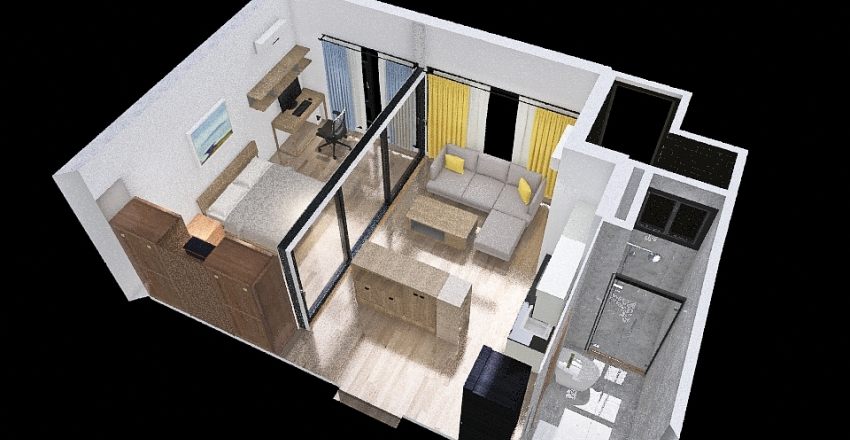 4 version Interior Design Render