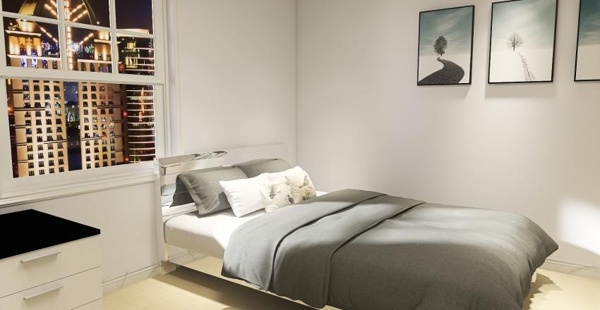 flat  espaçoso Interior Design Render