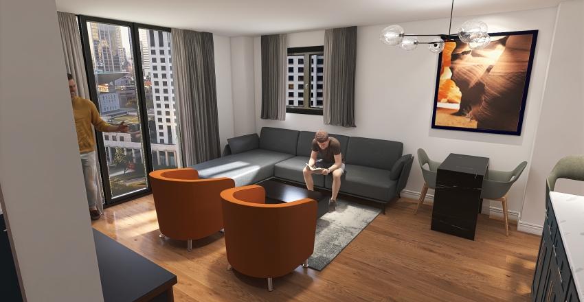 Concepto abierto 2021 Interior Design Render