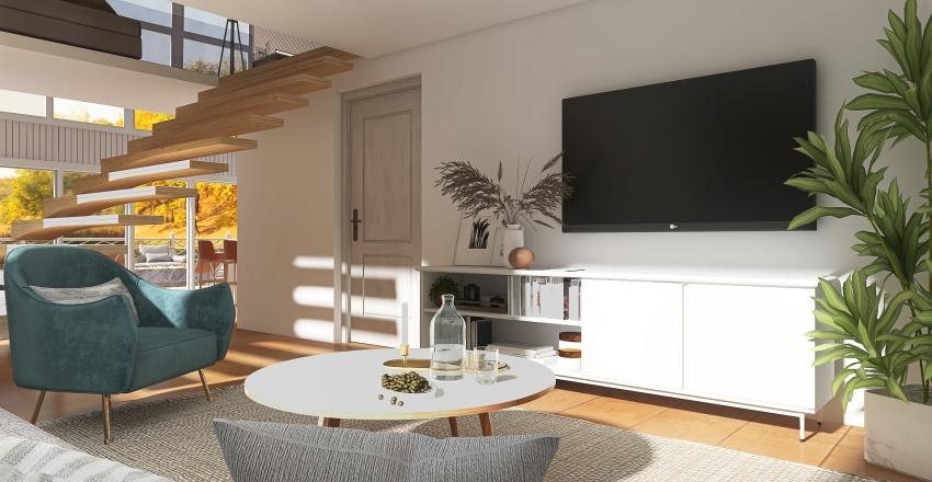 #HSDA2020Residential - Cozy Cabin Interior Design Render