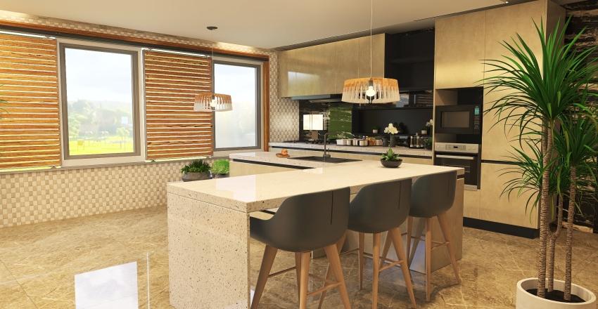 house Garden Interior Design Render