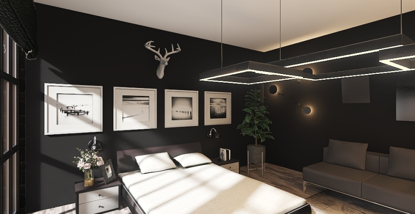 Sypialnia nr 1 Interior Design Render