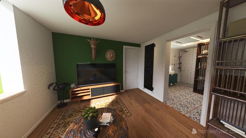 Down Stairs rental Interior Design Render