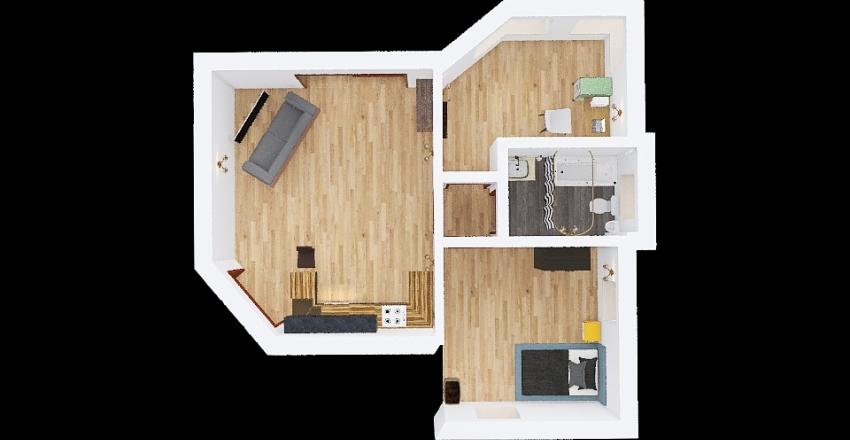 progetto u.a. singola Interior Design Render