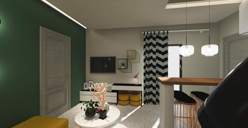 students apartment Interior Design Render