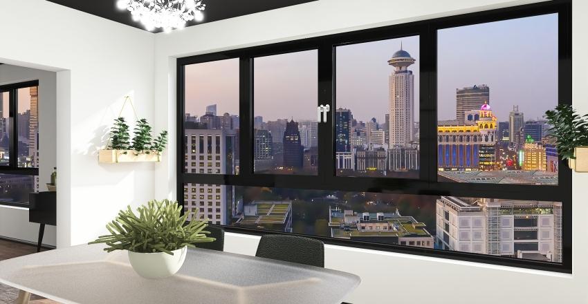Black & White Interior Design Render