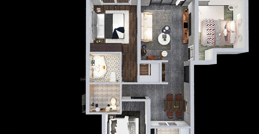 Guian 4F Interior Design Render