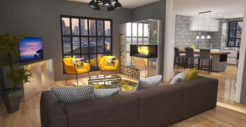 Apartmen Interior Design Render