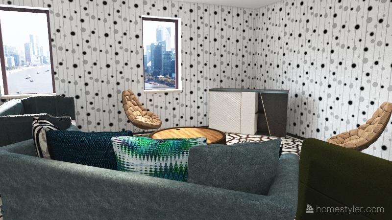 Corbins Single Story House Interior Design Render