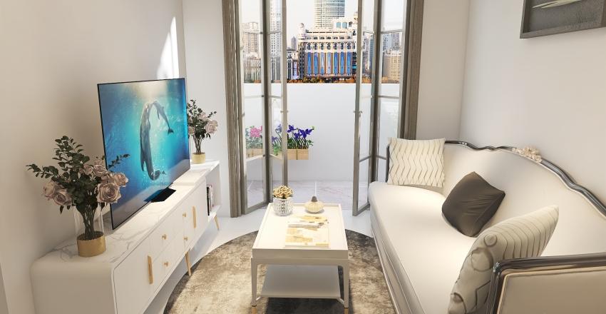 flat pequeno estilo moderno Interior Design Render