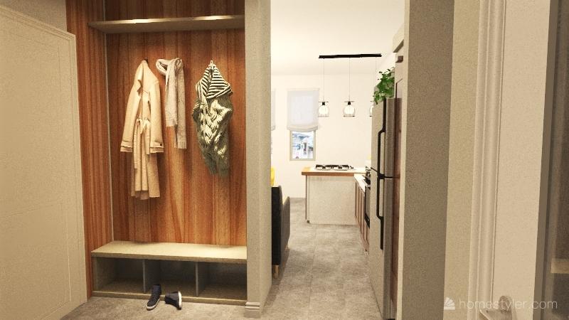 Appartamento per studenti Interior Design Render