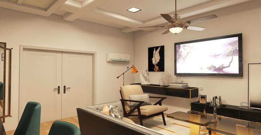Reem - Lady's Reception Interior Design Render