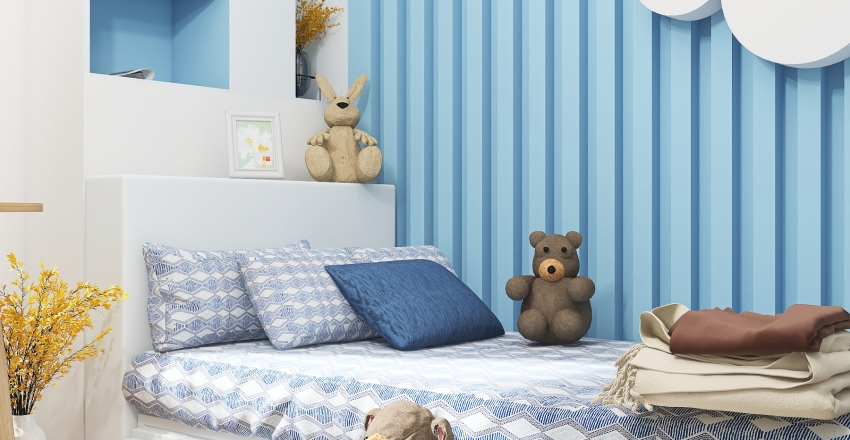 #HSDAresidential Boy Bedroom Interior Design Render