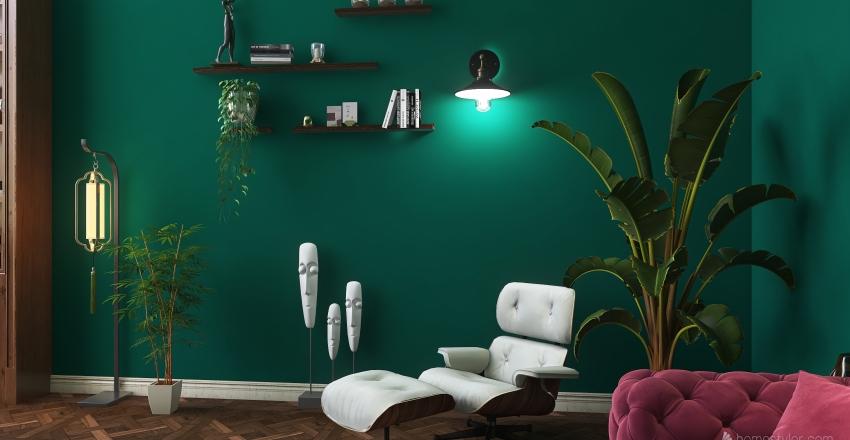 Living room for Philosophy Interior Design Render