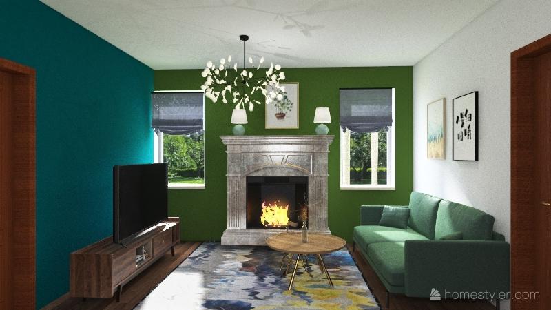 Small House. Interior Design Render