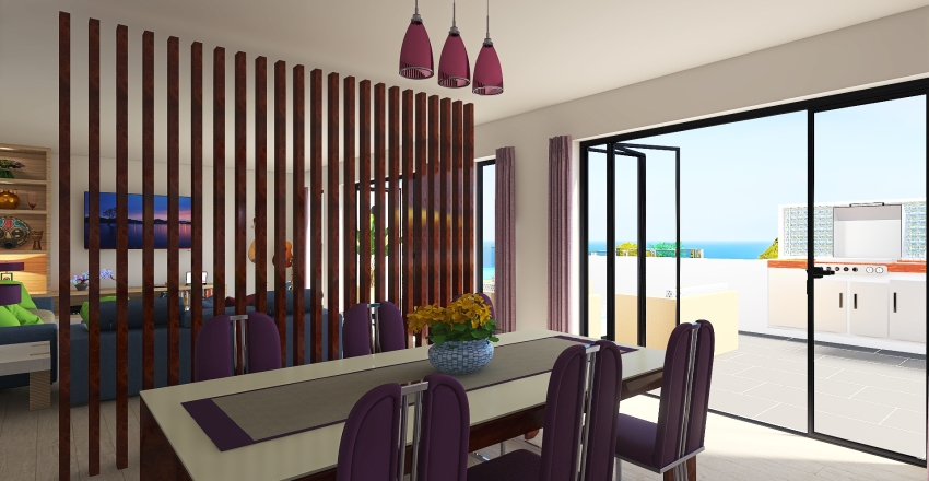 Cliff Top House Interior Design Render