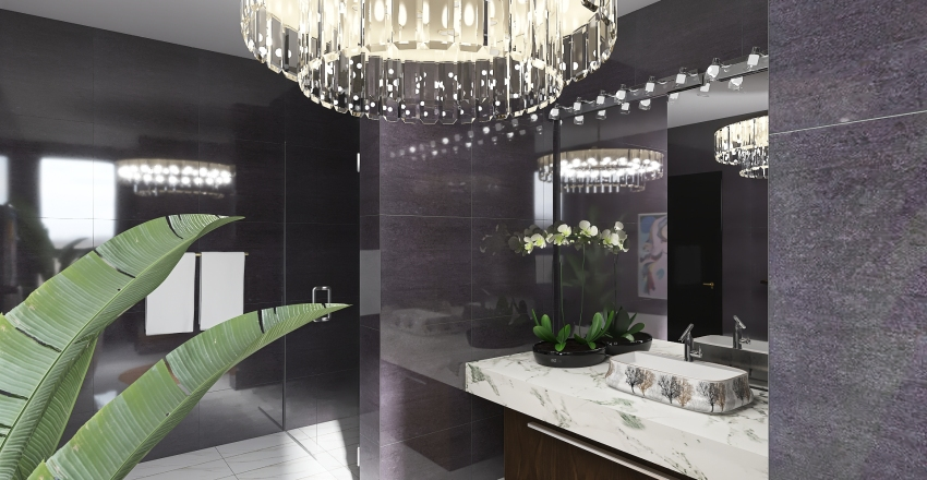 Master Bedroom & Bath Interior Design Render