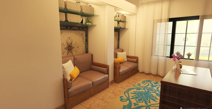 Office room Plan Interior Design Render