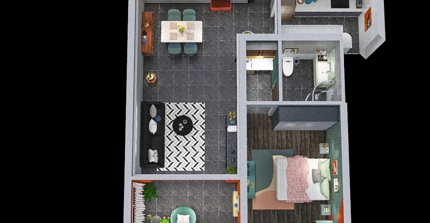 Proyecto Domotica Interior Design Render