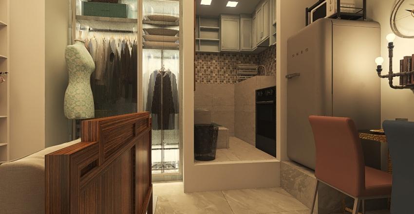 Camille Pastel Design Interior Design Render